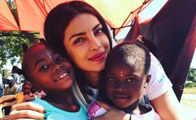 UNICEF Goodwill Ambassador, Priyanka Chopra, travels to Zimbabwe