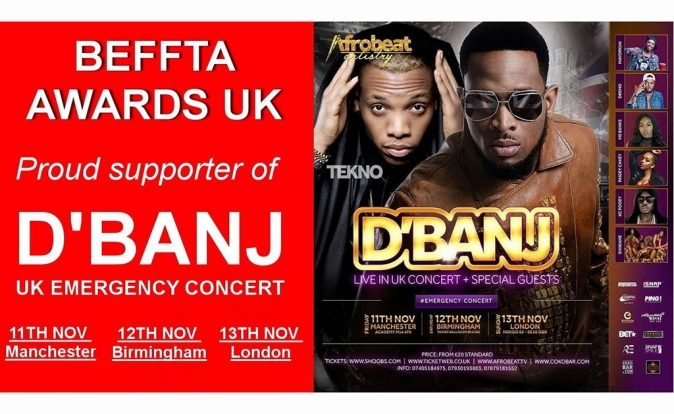 D'Banj to embark on UK 'Emergency' Tour