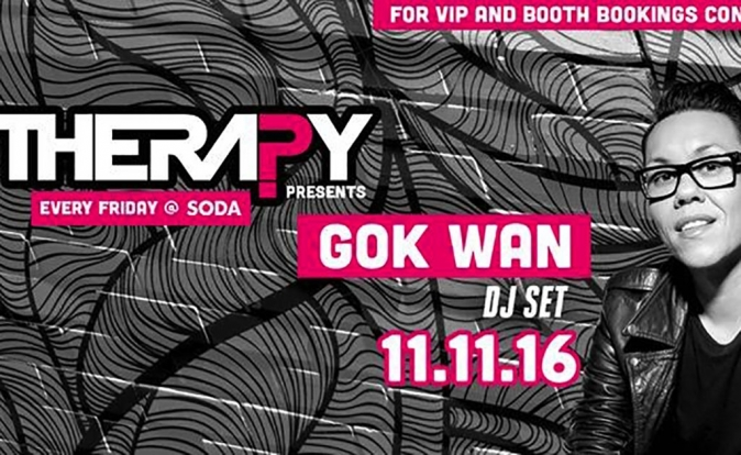 Therapy Cardiff welcoming Gok Wan on Friday 11th November 2016