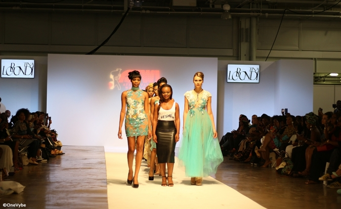 Tina Lobondi combines African prints with delicate French couture