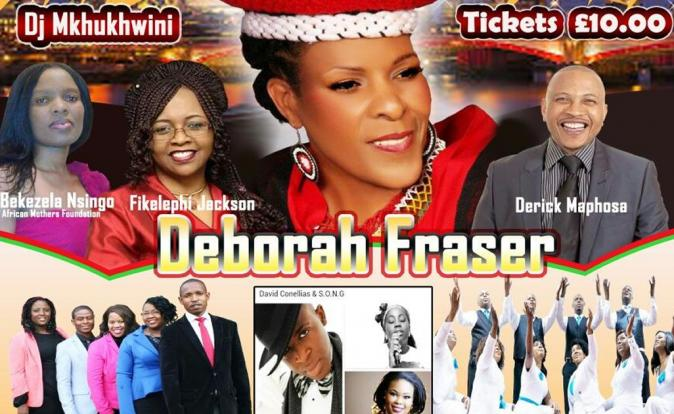 Singer Deborah Fraser to feature at the Rejoice & Shout event in the UK